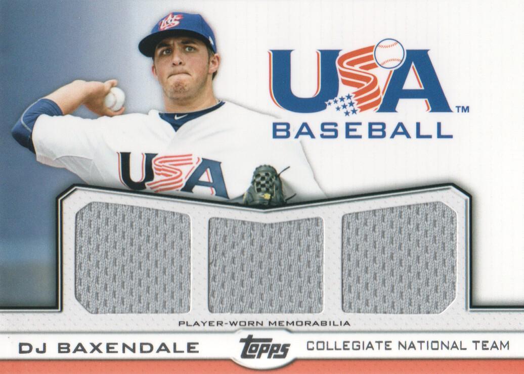 2011 USA Baseball Triple Jerseys #DB D.J. Baxendale