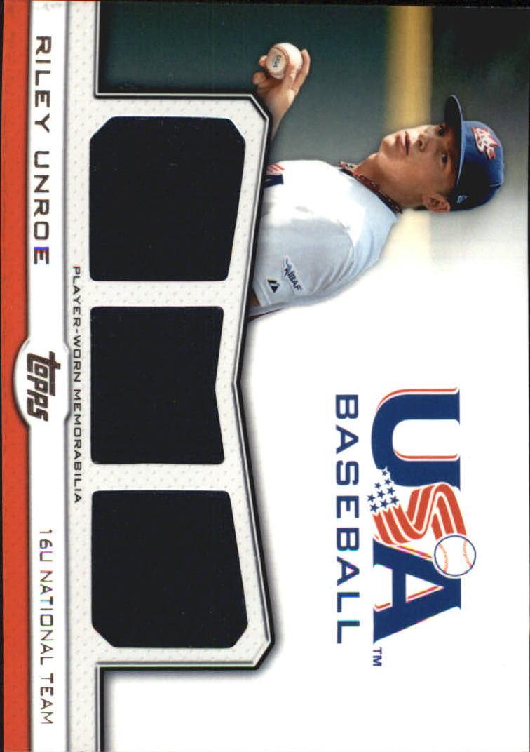 2011 USA Baseball Triple Jerseys #RU Riley Unroe