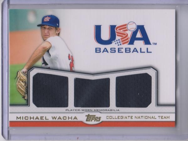 2011 USA Baseball Triple Jerseys Gold #MW Michael Wacha