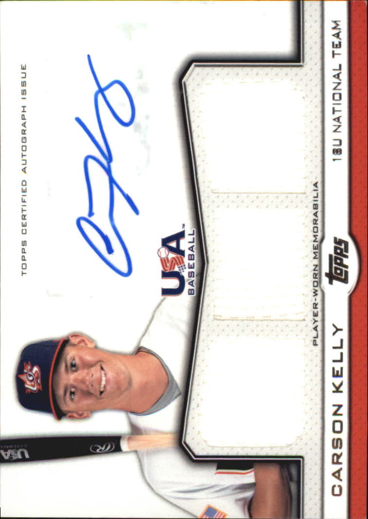 2011 USA Baseball Triple Jersey Autographs #CKE Carson Kelly/214