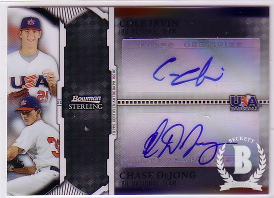 2011 Bowman Sterling Dual Autographs #ID Cole Irvin/Chase DeJong