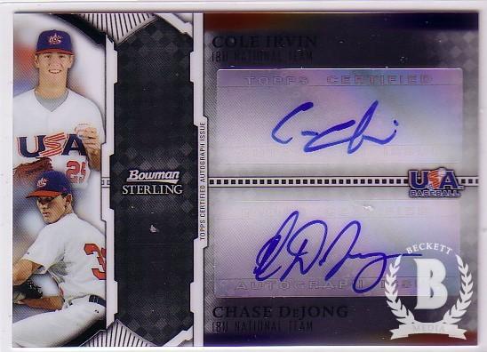 2011 Bowman Sterling Dual Autographs #ID Cole Irvin/Chase DeJong