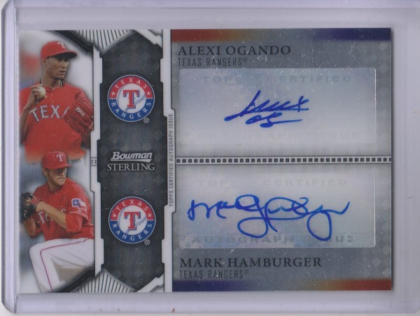 2011 Bowman Sterling Dual Autographs #OH Alexi Ogando/Mark Hamburger