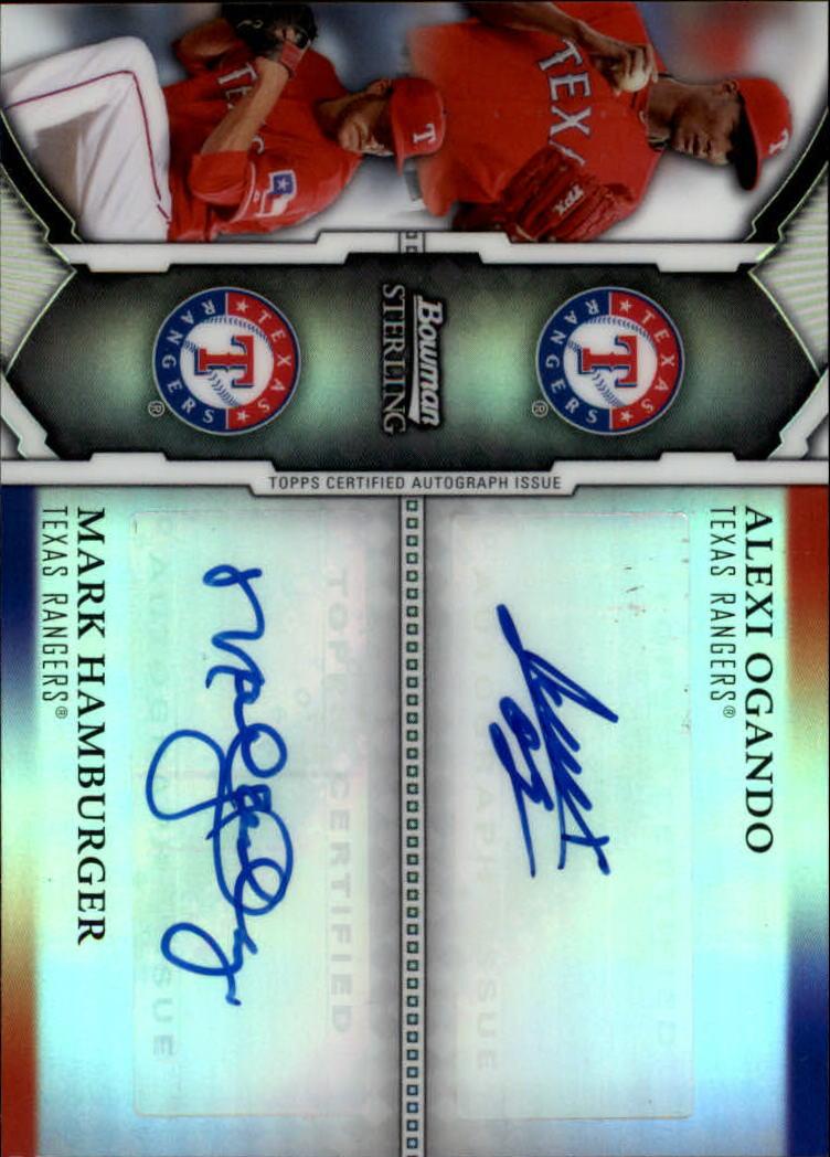 2011 Bowman Sterling Dual Autographs Refractors #OH Alexi Ogando/Mark Hamburger