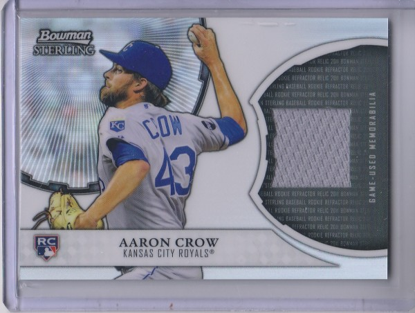 2011 Bowman Sterling Rookie Relics #AC Aaron Crow