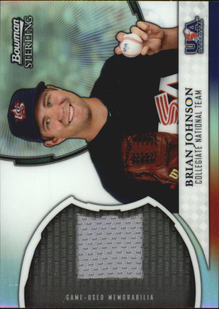 2011 Bowman Sterling USA Baseball Relics #BJ Brian Johnson