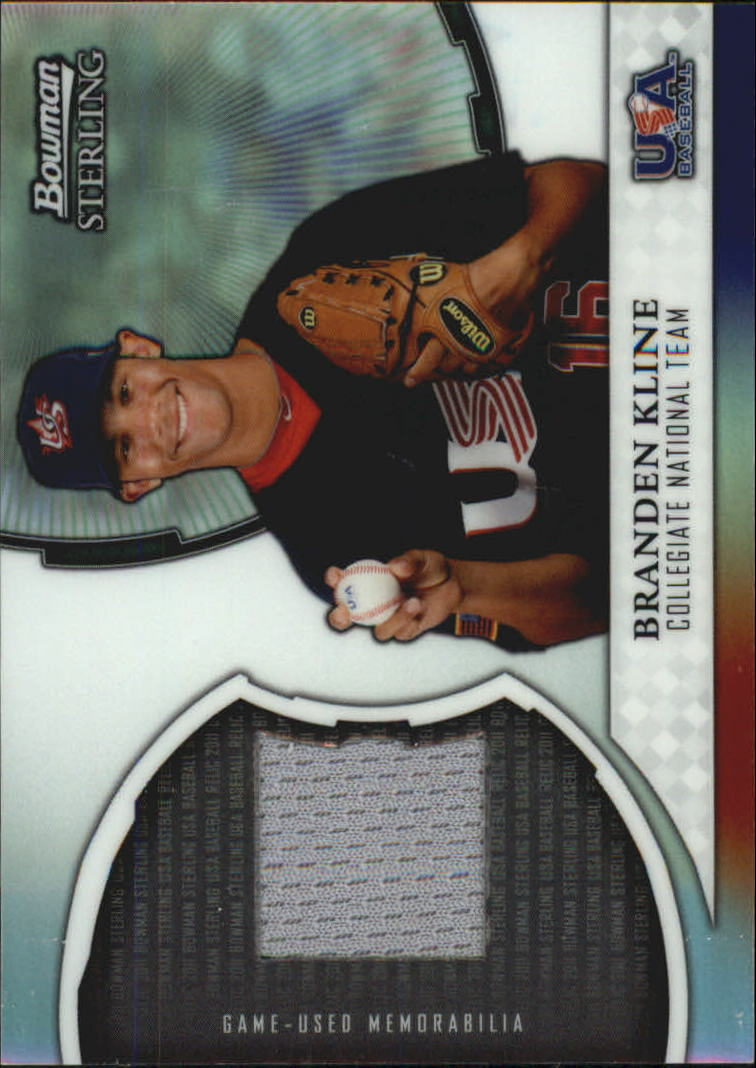 2011 Bowman Sterling USA Baseball Relics #BK Branden Kline