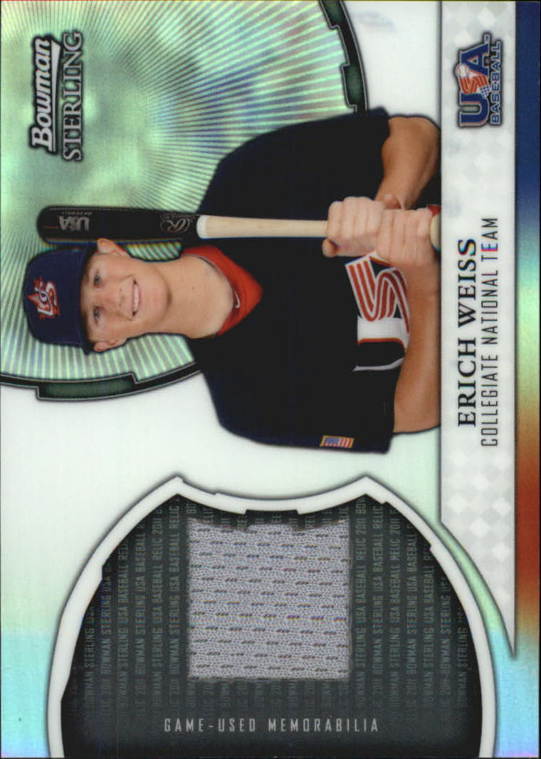 2011 Bowman Sterling USA Baseball Relics #EW Erich Weiss