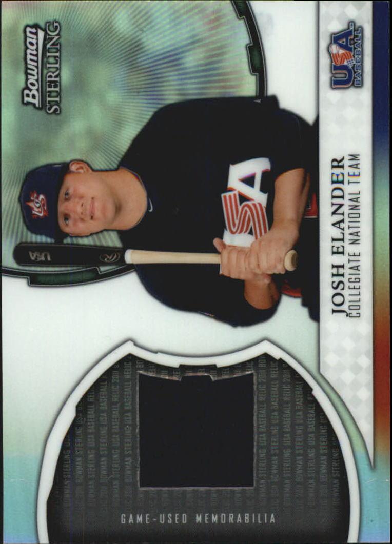 2011 Bowman Sterling USA Baseball Relics #JE Josh Elander