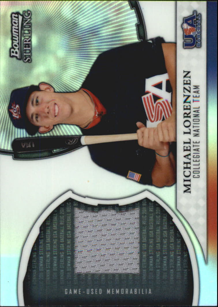 2011 Bowman Sterling USA Baseball Relics #ML Michael Lorenzen