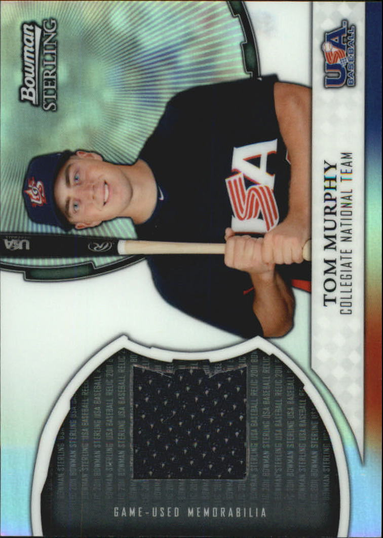 2011 Bowman Sterling USA Baseball Relics #TM Tom Murphy