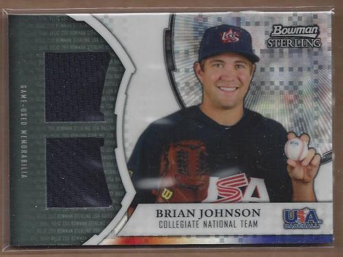 2011 Bowman Sterling USA Baseball Dual Relic X-Fractors #BJ Brian Johnson