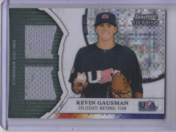 2011 Bowman Sterling USA Baseball Dual Relic X-Fractors #KG Kevin Gausman