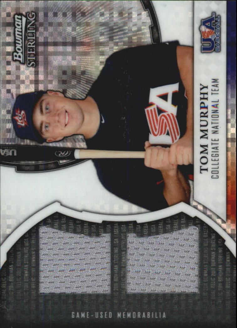 2011 Bowman Sterling USA Baseball Dual Relic X-Fractors #TM Tom Murphy