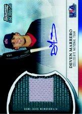 2011 Bowman Sterling USA Baseball Relic Autograph Black Refractors #DM Deven Marrero