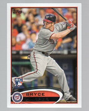 2012 Topps #661C Bryce Harper/Front leg up/Factory set