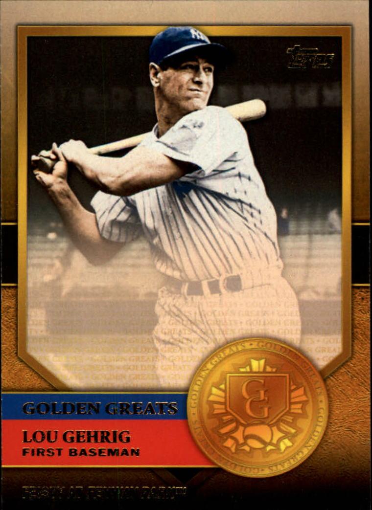 2012 Topps Golden Greats #GG2 Lou Gehrig