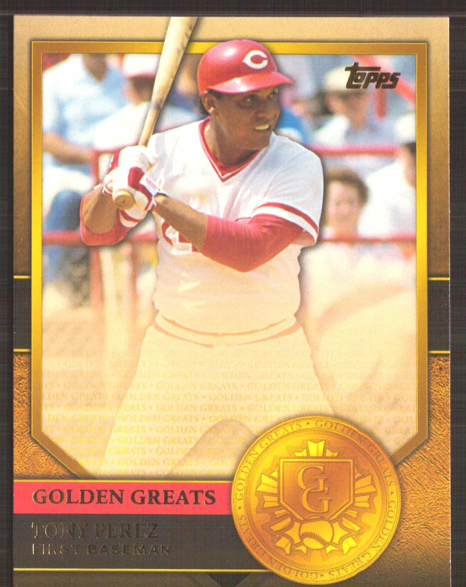 2012 Topps Golden Greats #GG96 Tony Perez