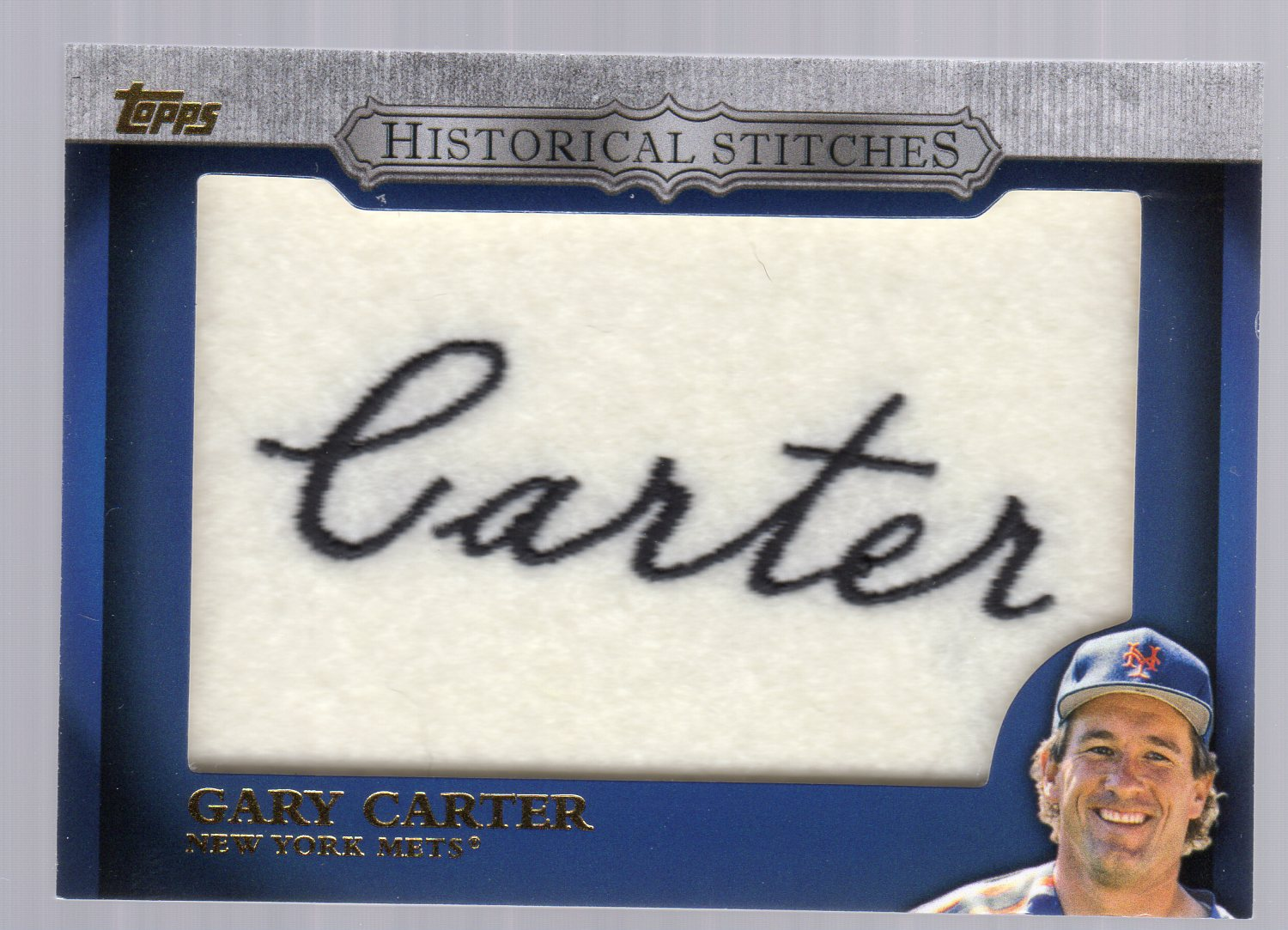 2012 Topps Historical Stitches #GC Gary Carter S2