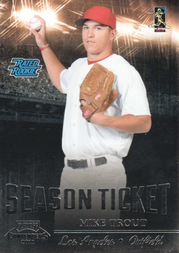 2011 Playoff Contenders #17 Mike Trout RC