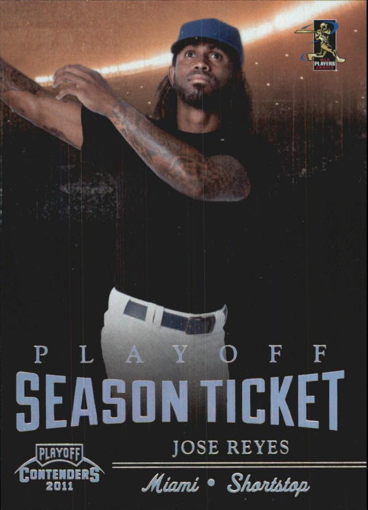 2011 Playoff Contenders Playoff Ticket #18 Jose Reyes