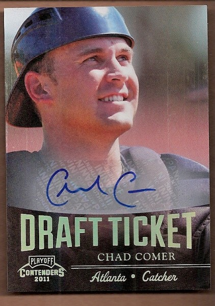 2011 Playoff Contenders Draft Ticket Autographs #DT50 Chad Comer