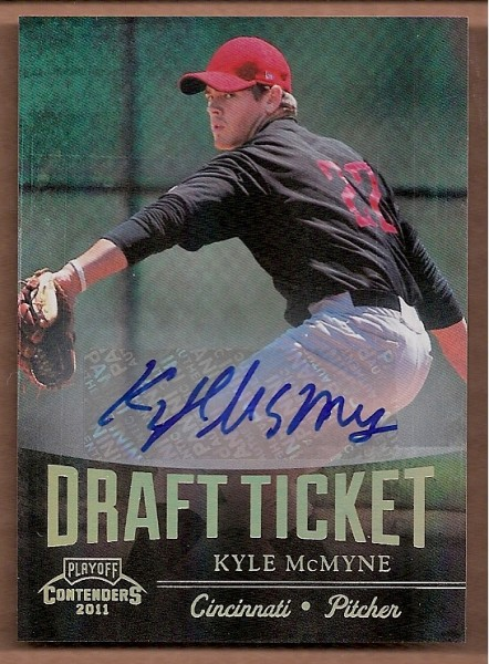 2011 Playoff Contenders Draft Ticket Autographs #DT91 Kyle McMyne