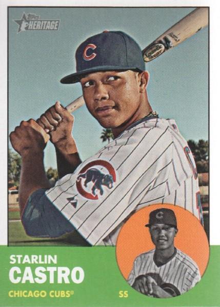 2012 Topps Heritage #193A Starlin Castro