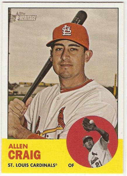 2012 Topps Heritage #357 Allen Craig