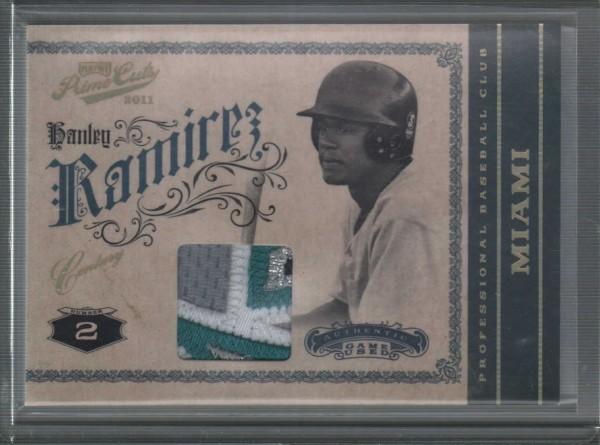 2011 Prime Cuts Materials Century Gold #16 Hanley Ramirez/25