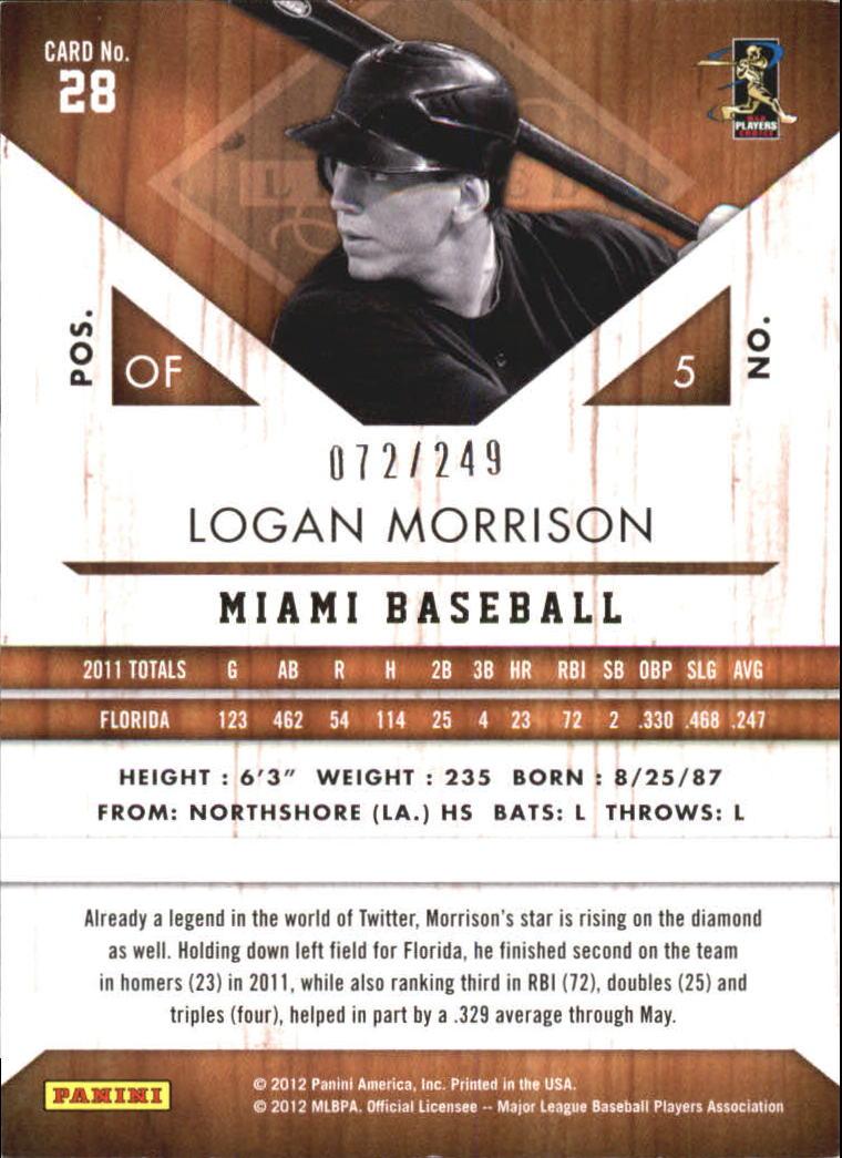2011 Limited #28 Logan Morrison back image