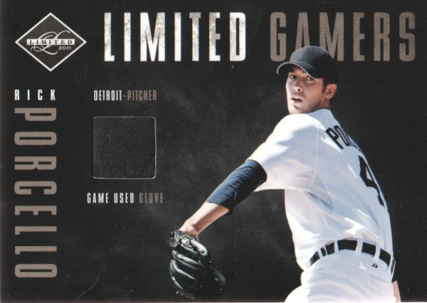 2011 Limited Gamers Gloves #12 Rick Porcello/299