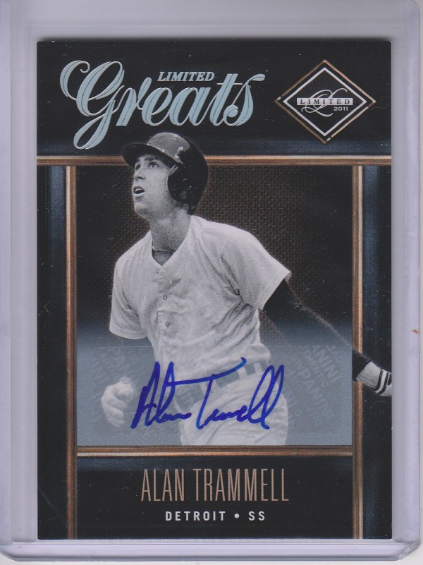 2011 Limited Greats Signatures #15 Alan Trammell/499