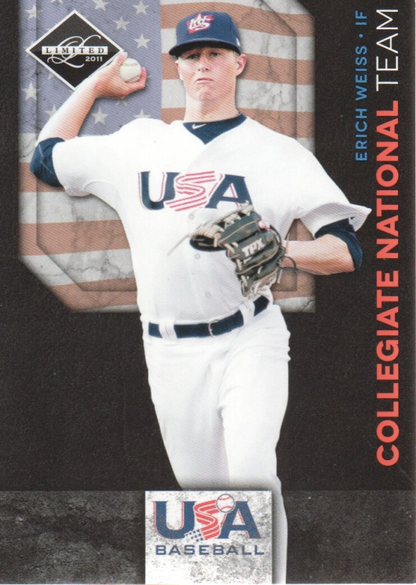 2011 Limited USA Baseball National Team #22 Erich Weiss