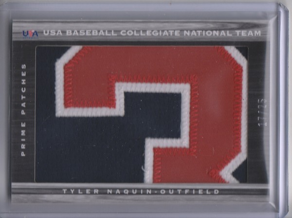 2011 Limited USA Baseball National Teams Prime Patches #16 Tyler Naquin/25