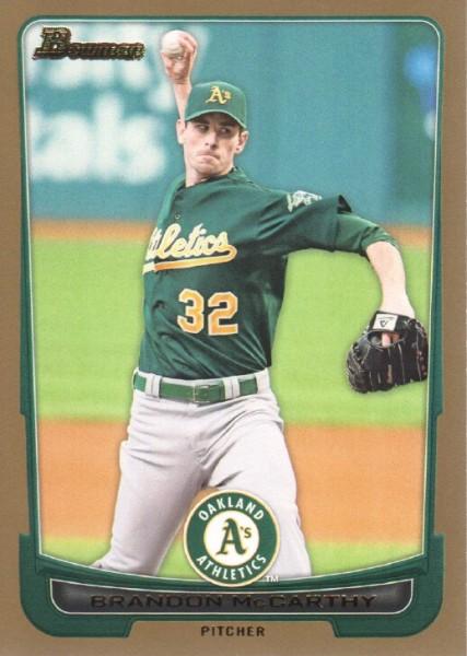 2012 Bowman Gold #15 Brandon McCarthy