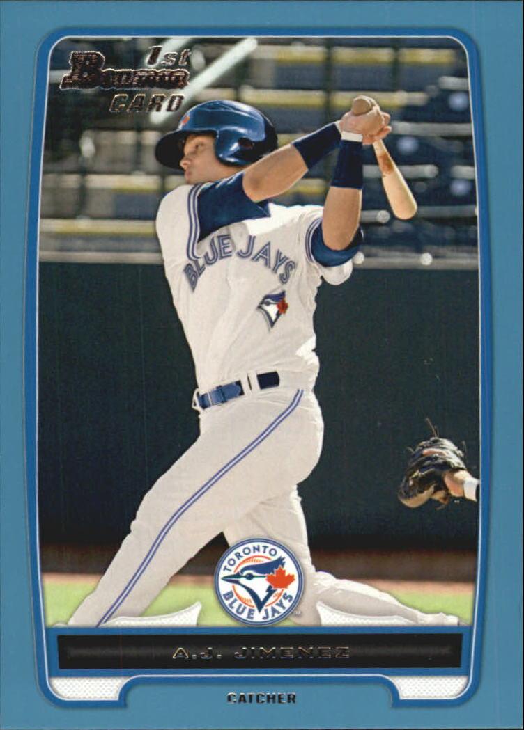 2012 Bowman Prospects Blue #BP5 A.J. Jimenez