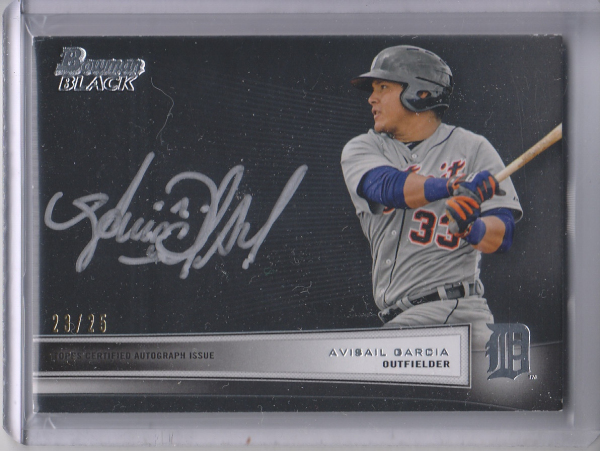 2012 Bowman Black Collection Autographs #AG Avisail Garcia BC