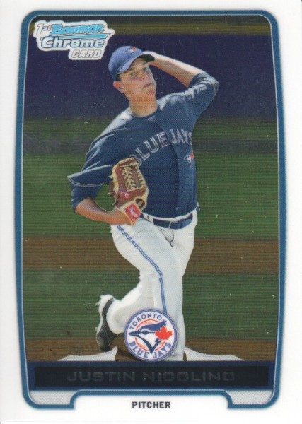 2012 Bowman Chrome Prospects #BCP1 Justin Nicolino
