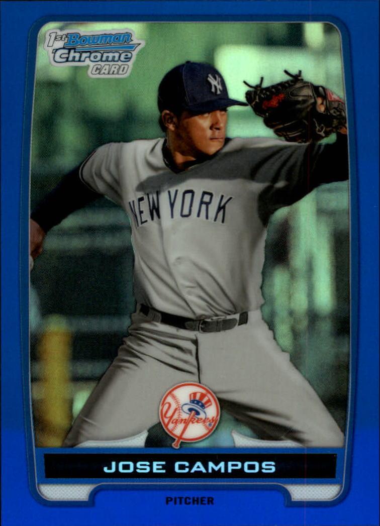 2012 Bowman Chrome Prospects Blue Refractors #BCP15 Jose Campos