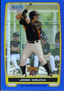 2012 Bowman Chrome Prospects Blue Refractors #BCP21 Jose Osuna
