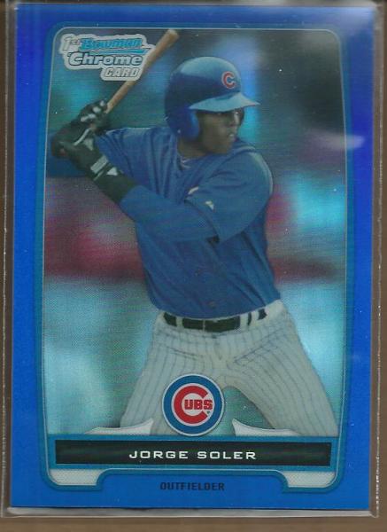 2012 Bowman Chrome Prospects Blue Refractors #BCP120 Jorge Soler