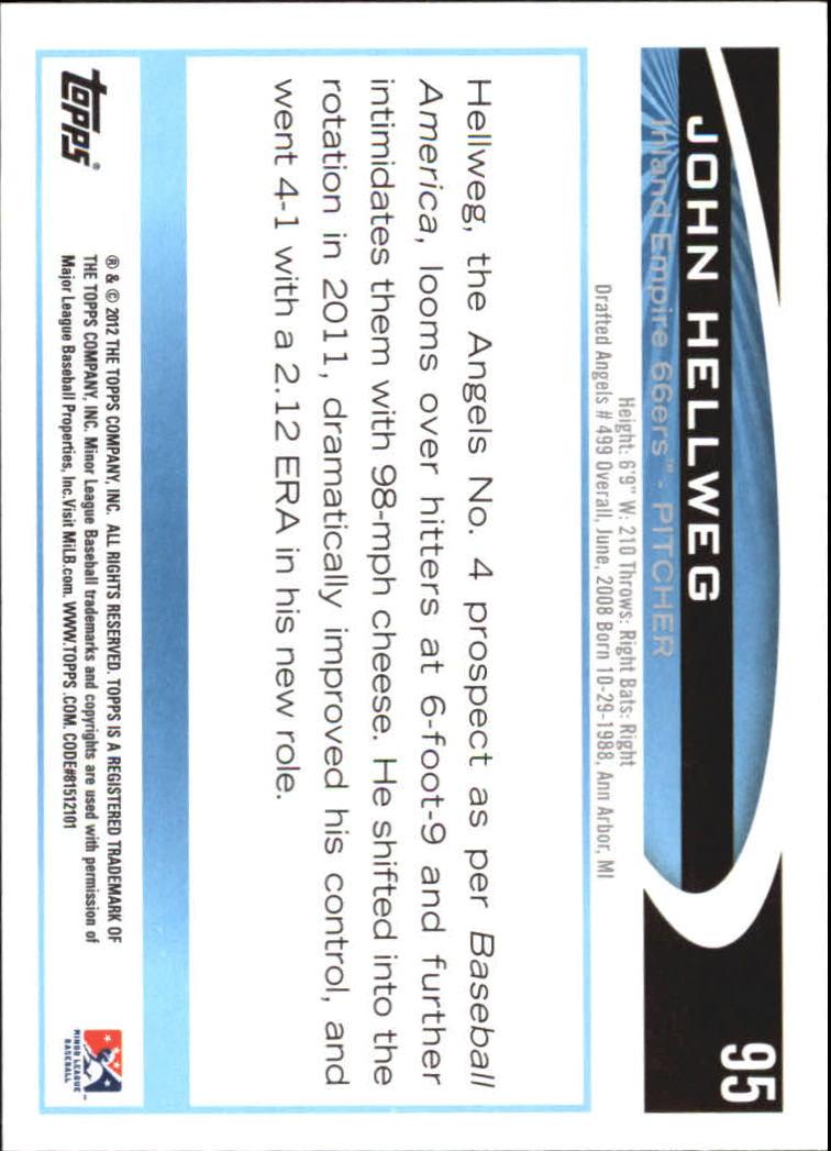 2012 Topps Pro Debut #95 John Hellweg back image