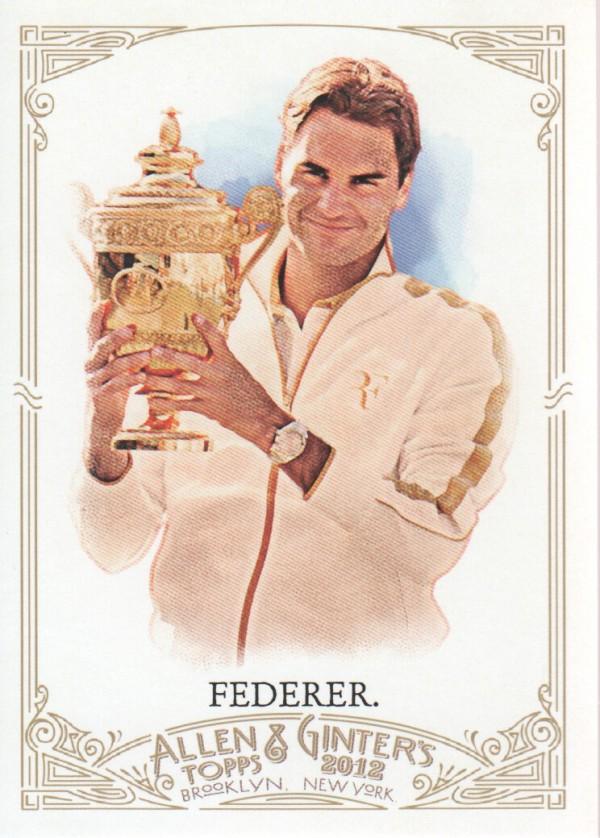 2012 Topps Allen and Ginter #157 Roger Federer