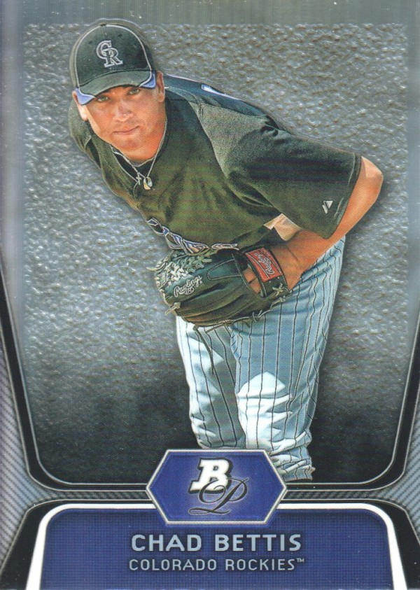 2012 Bowman Platinum Prospects Refractors #BPP5 Chad Bettis