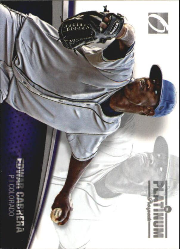 2012 Onyx Platinum Prospects #PP11 Edwar Cabrera