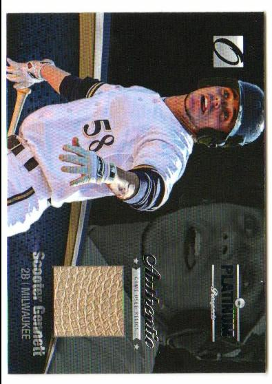 2012 Onyx Platinum Prospects Game Used #PPGU9 Scooter Gennett/100