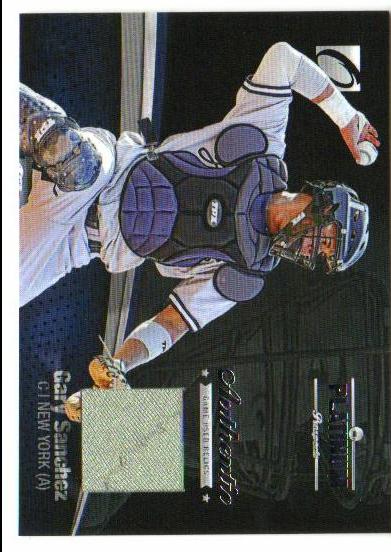 2012 Onyx Platinum Prospects Game Used #PPGU18 Gary Sanchez/470 *