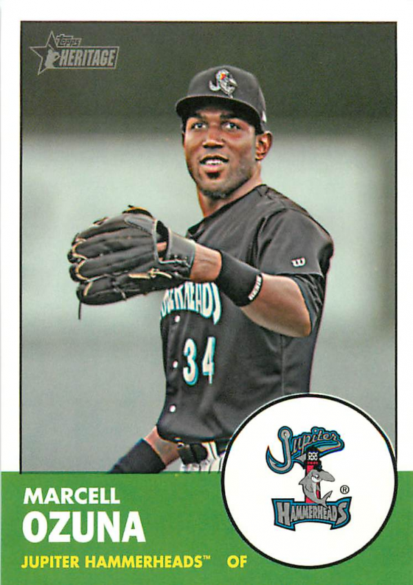 2012 Topps Heritage Minors #122 Marcell Ozuna