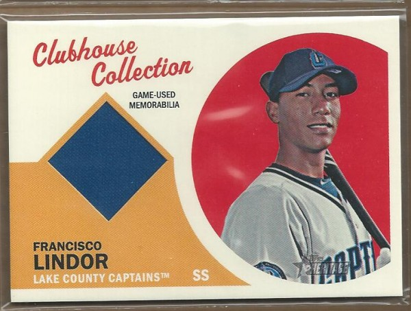 2012 Topps Heritage Minors Clubhouse Collection Relics #FL Francisco Lindor
